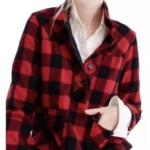 J Crew | Pullover Wool Jacket Buffalo Plaid Check
